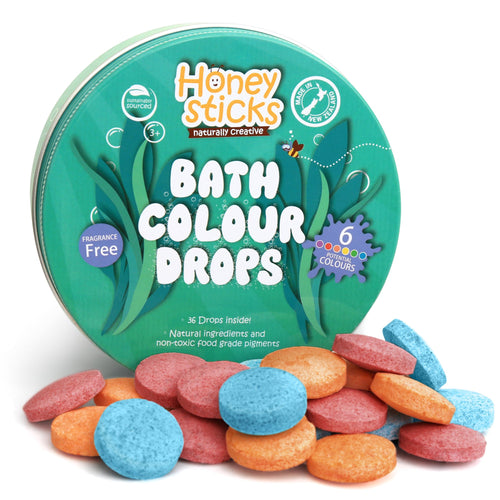 Honeysticks Bath Drops | Bear & Moo | Bear and Moo | Hamilton, New Zealand | NZ Made | bath colour | kids art | cloth nappies | environmentally friendly | save money | good for the environment | sustainable living | waste free | Honeysticks Bath Drops