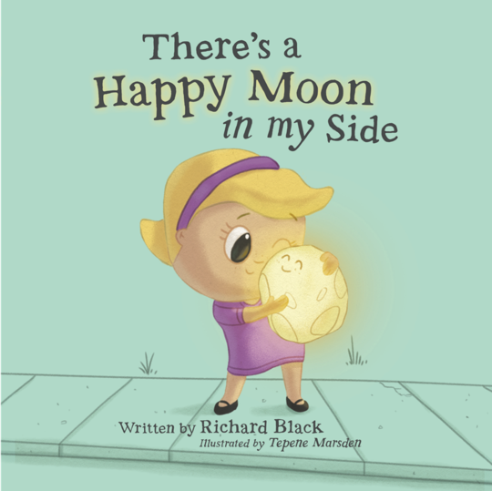 There's a Happy Moon in my Side | Bear & Moo | Bear and Moo | Hamilton, New Zealand | NZ Book | kids books | quiet book | play | cloth nappies | environmentally friendly | save money | good for the environment | sustainable living | waste free | There's a Happy Moon in my Side