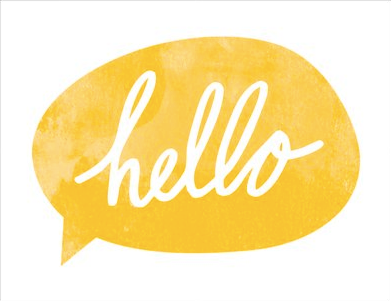 Greeting Card - Hello bubble