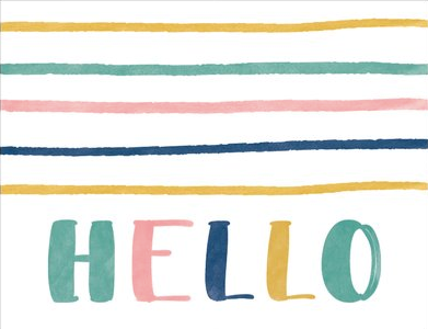 Greeting Card - Hello multicoloured
