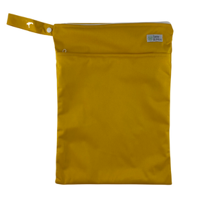 Mustard Wet Bag | Bear & Moo | Bear and Moo | Hamilton, New Zealand | wet bag | wetbag | cloth nappy | reusable nappies | modern cloth nappies | environmentally friendly | save money | good for the environment | alternative to plastic | sustainable living | waste free | Mustard Wet Bag