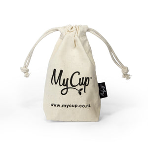 MyCup Menstrual Cup Size 1 | Bear & Moo | Bear and Moo | Hamilton, New Zealand | menstrual cup | period cup | affordable | menstruation | NZ Made | reusable | environmentally friendly | save money | good for the environment | sustainable living | waste free | MyCup Menstrual Cup Size 1
