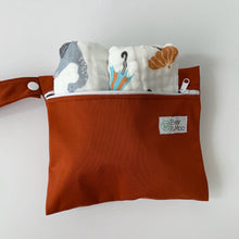 Rust Mini Wet Bag | Bear & Moo | Bear and Moo | Hamilton, New Zealand | wet bag | wetbag | cloth nappy | reusable nappies | modern cloth nappies | environmentally friendly | save money | good for the environment | alternative to plastic | sustainable living | waste free | Rust Mini Wet Bag