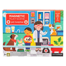 Petit Collage Pet Hospital Magnetic Play Scene
