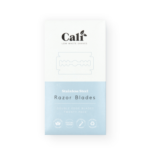 Razor Blade Refill Pack | CaliWoods | Bear & Moo | Bear and Moo | Hamilton, New Zealand | stainless steel | cloth nappies | environmentally friendly | save money | good for the environment | sustainable living | waste free | Razor Blade Refill Pack