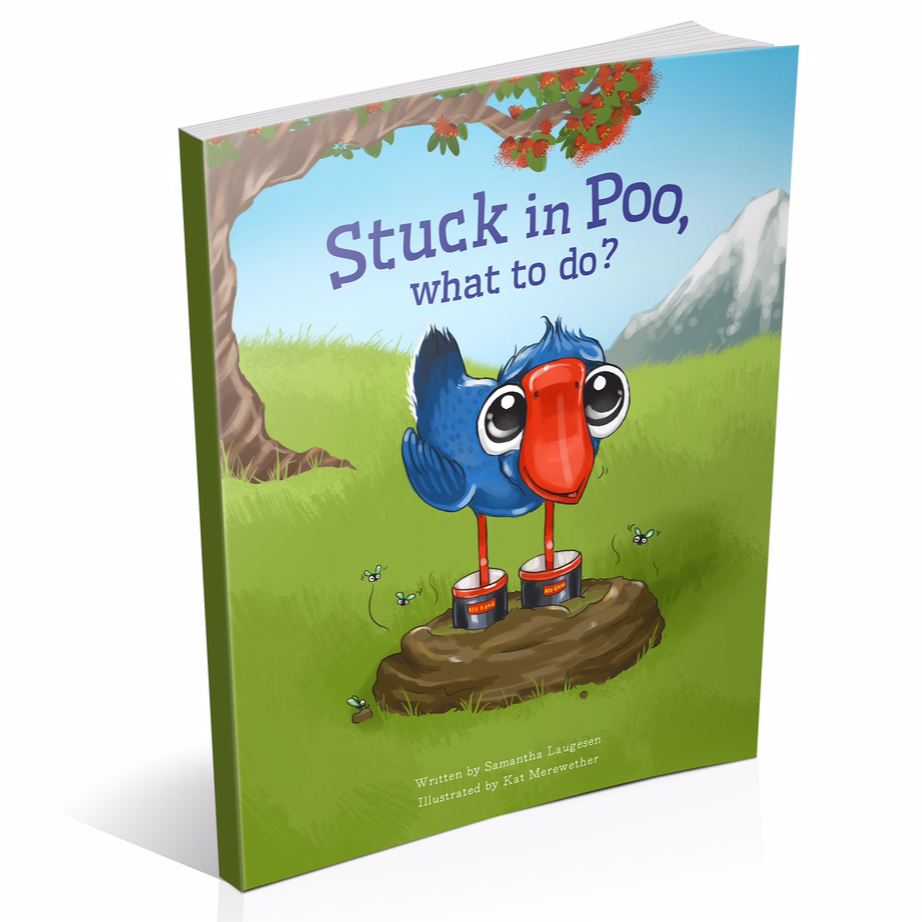 Stuck in Poo, What to Do | Bear & Moo | Bear and Moo | Hamilton, New Zealand | NZ Book | kids books | kat merewether | play | cloth nappies | environmentally friendly | save money | good for the environment | sustainable living | waste free | Stuck in Poo, What to Do