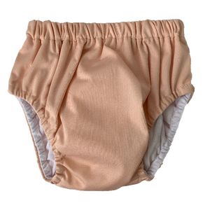 Blush Training Nappy | Bear & Moo | Bear and Moo | Hamilton, New Zealand | cloth nappy | reusable pull up nappy | modern cloth nappies | environmentally friendly | save money | suede | good for the environment | alternative to disposables | sustainable living | waste free | Blush Training Nappy