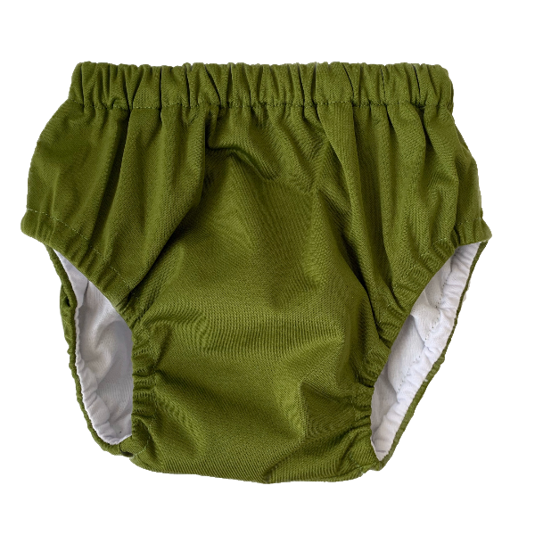 Olive Training Nappy | Bear & Moo | Bear and Moo | Hamilton, New Zealand | cloth nappy | reusable pull up nappy | modern cloth nappies | environmentally friendly | save money | suede | good for the environment | alternative to disposables | sustainable living | waste free | Olive Training Nappy