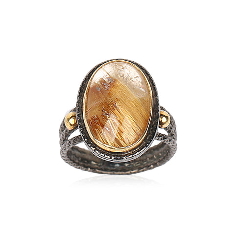 Rutiled Quartz Ring