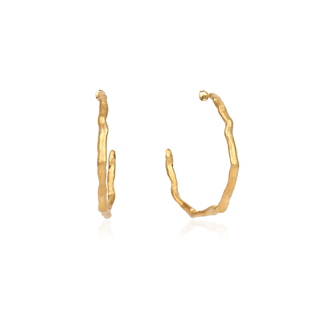 Large Golden Hoop Earring