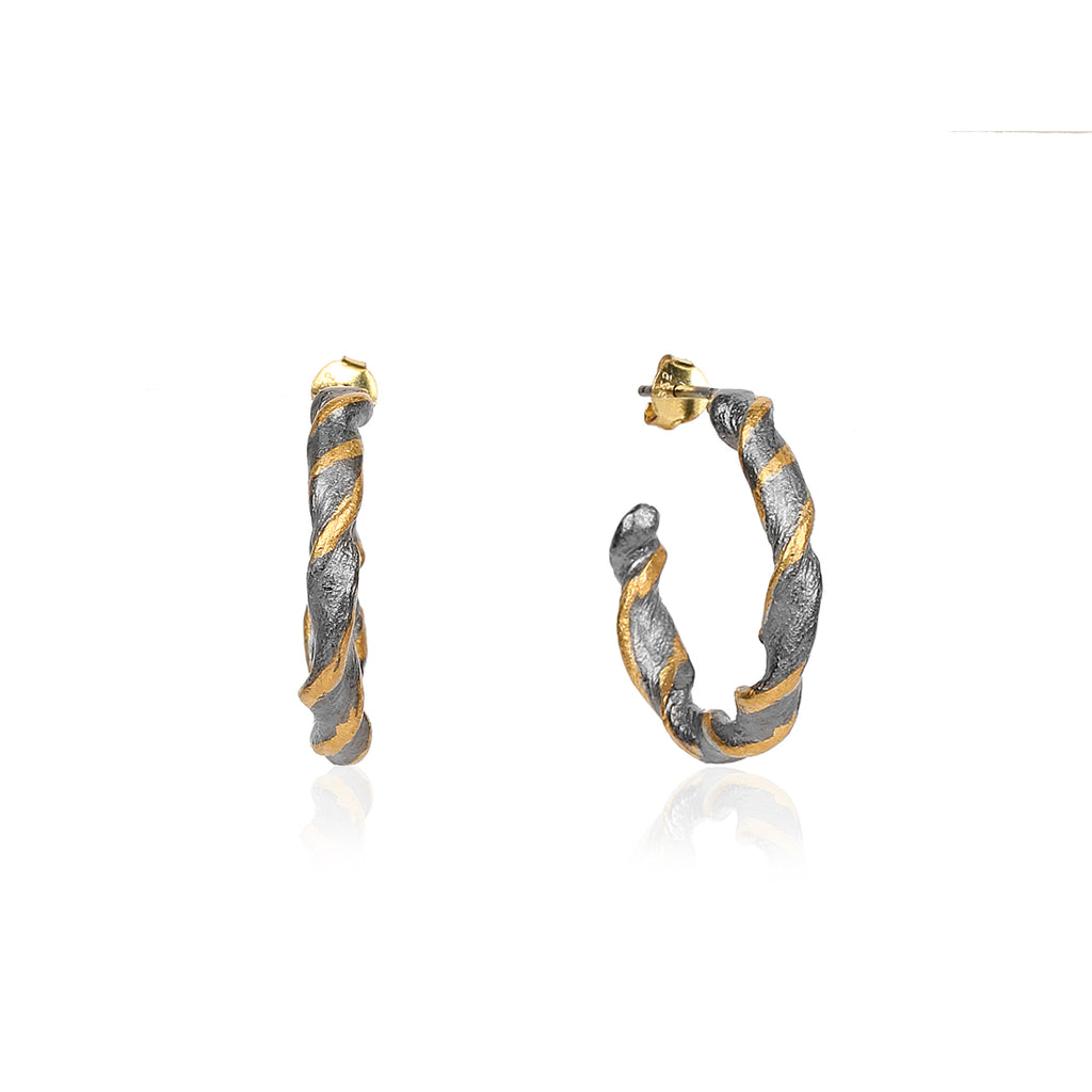 Twisted Hoops Earring