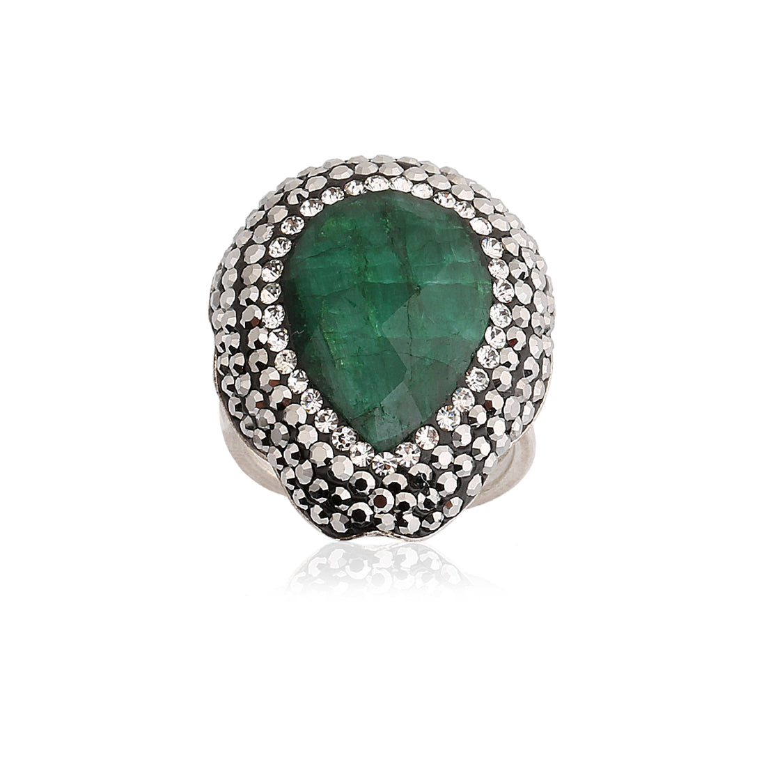 Emerald Drop Ring