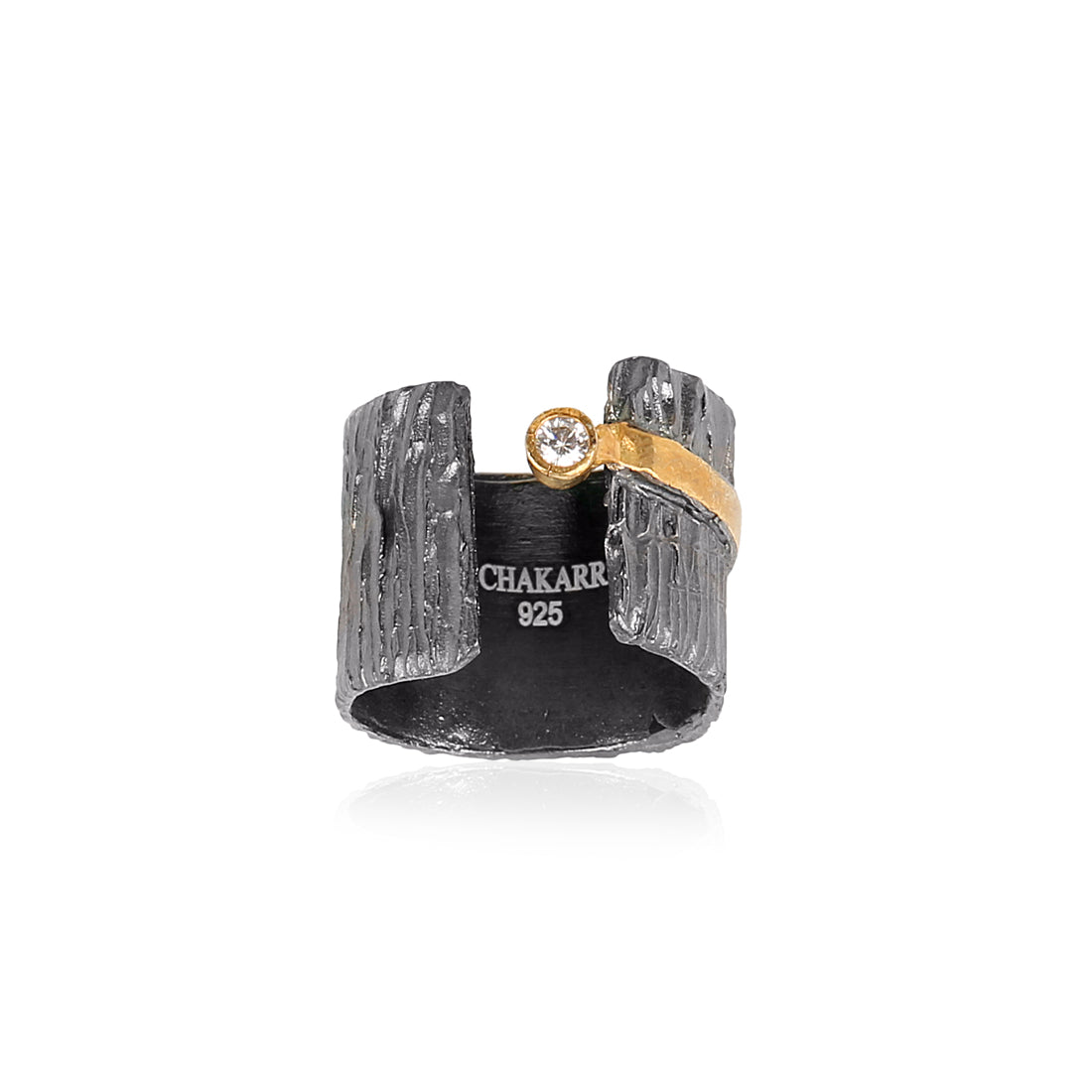 Black & Gold Statement Cuff Ring