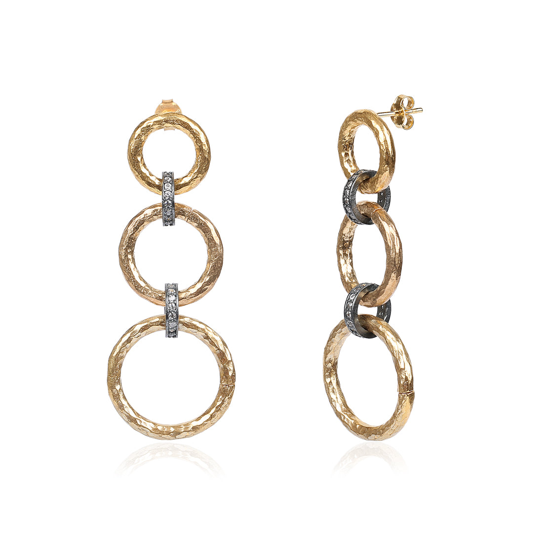 Two Tone Chainlink Earring