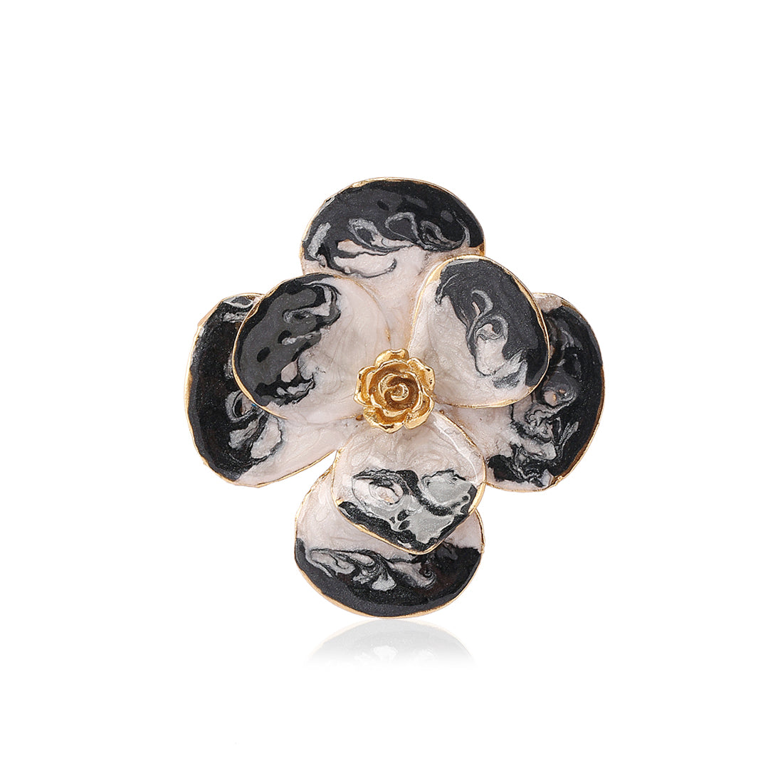 Duo Enamel Brooch