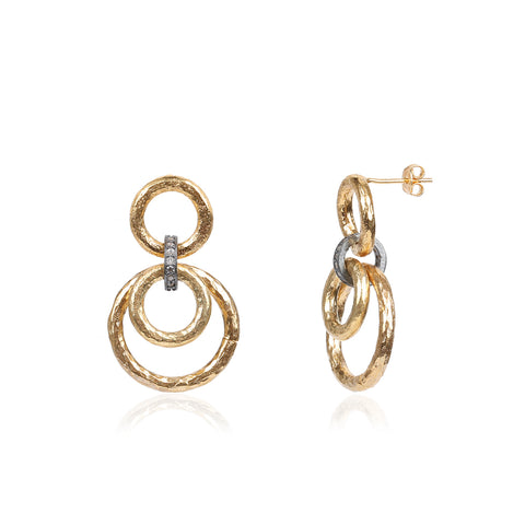 Two Drop Gold Chain Link Earring
