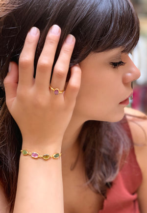 Tourmaline Adjustable Bracelet