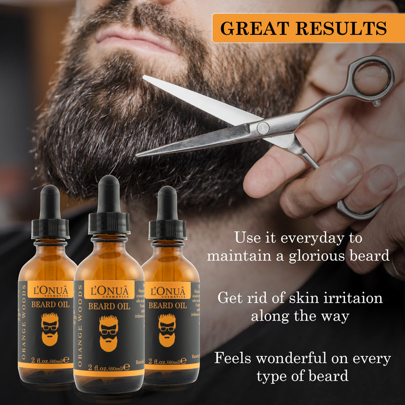 Beard Oil Orange Woods - 2 oz