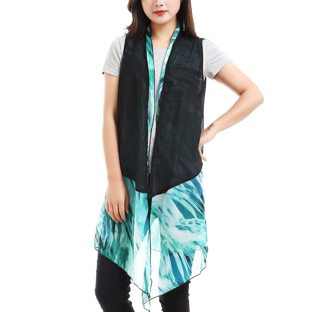 2 Piece Sleeveless Kimono,Outerwear,Mad Style, by Mad Style