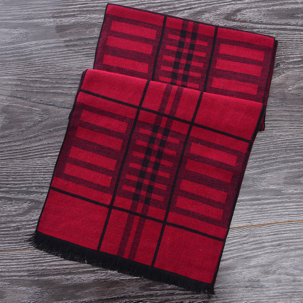 Heritage Scarf Red/Black (Reverse Side) by Mad Style Wholesale