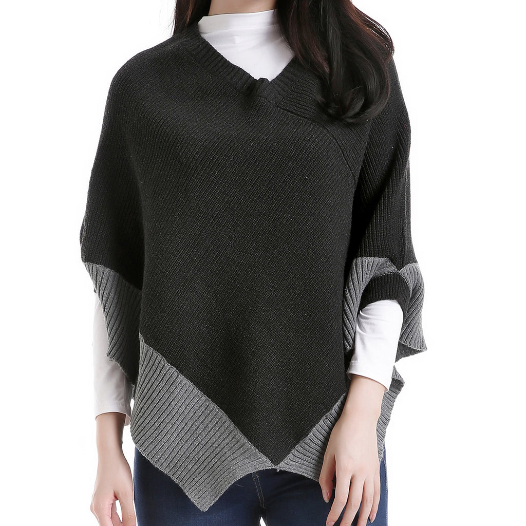 Shark Bite Poncho Black by Mad Style Wholesale