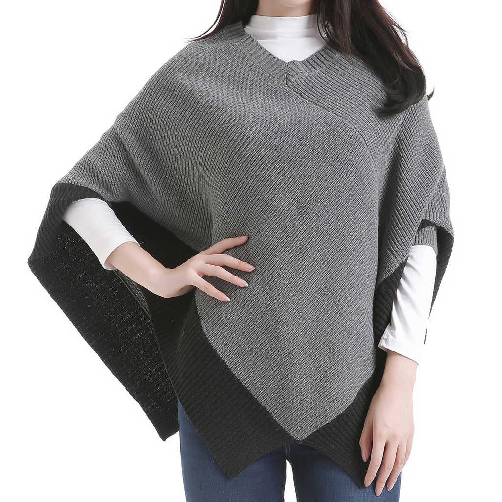 Shark Bite Poncho Grey by Mad Style Wholesale