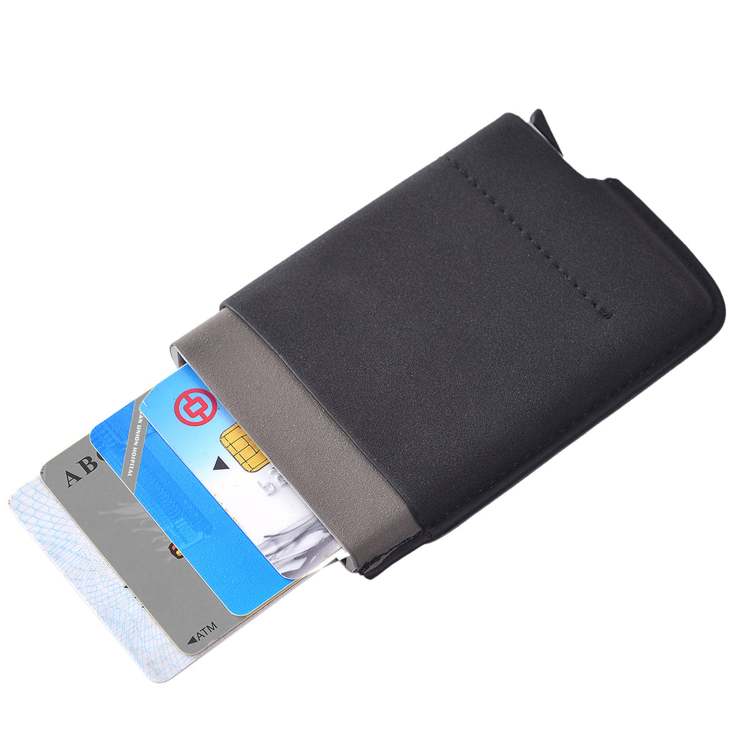 Card Blocker RFID Auto Wallet Black by Mad Style Wholesale