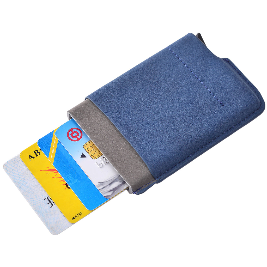 Card Blocker RFID Auto Wallet Navy by Mad Style Wholesale