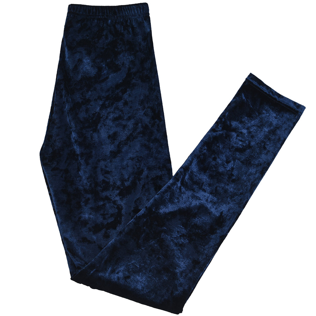 Velvet Leggings Blue by Mad Style Wholesale