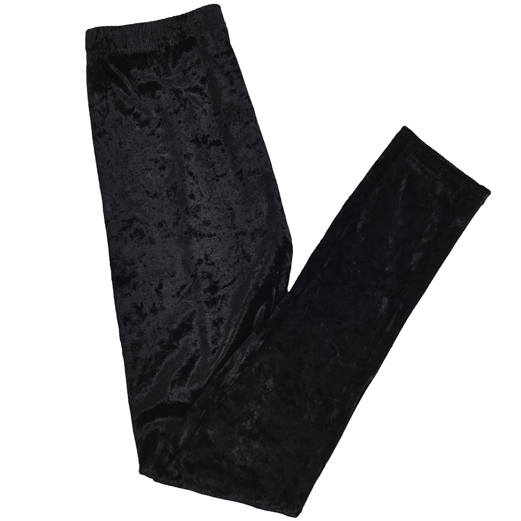 Velvet Leggings Black by Mad Style Wholesale