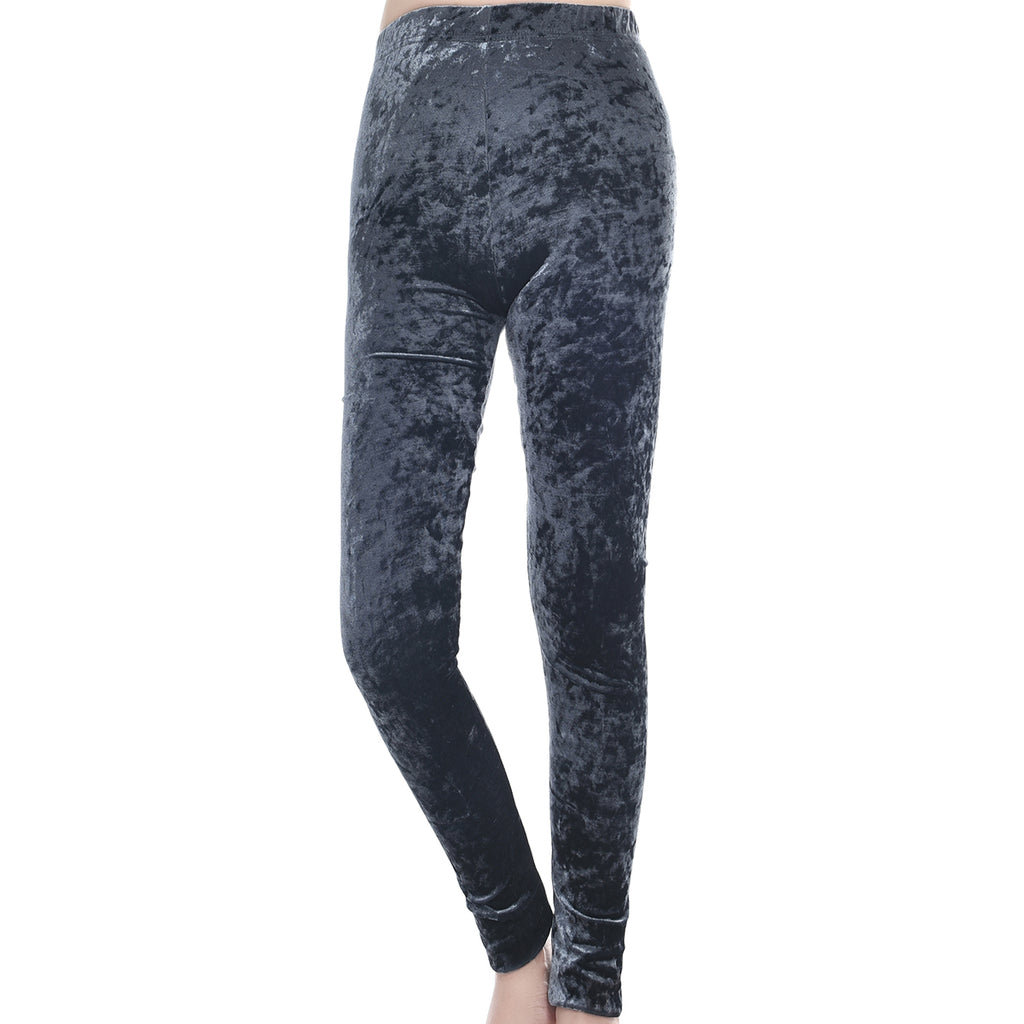 Velvet Leggings Grey by Mad Style Wholesale