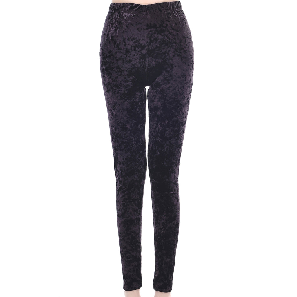 Velvet Leggings Plum by Mad Style Wholesale