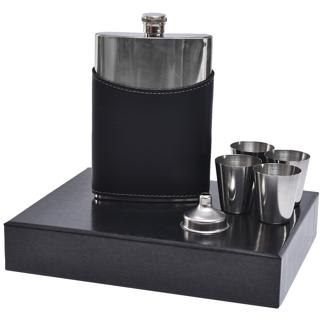 Mad Man Elite Flask Set Black by Mad Style Wholesale