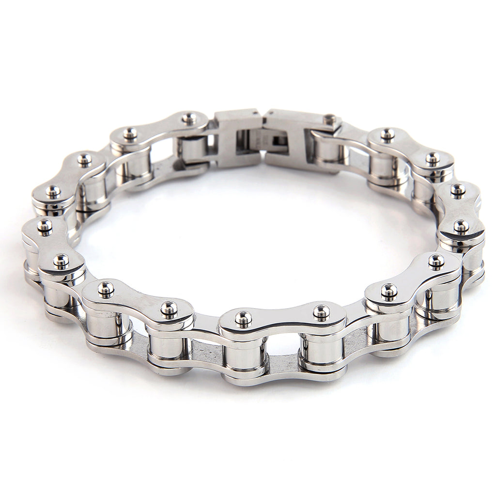 Dakata Bike Chain Bracelet All Silver by Mad Style Wholesale