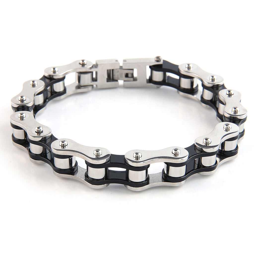 Dakata Bike Chain Bracelet Black and Silver by Mad Style Wholesale