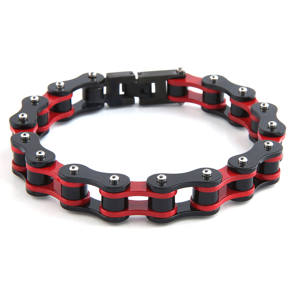 Dakata Bike Chain Bracelet Red and Black by Mad Style Wholesale