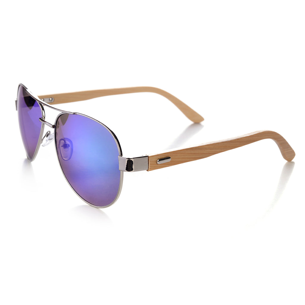 Aviators with Bamboo Arms Sunglasses