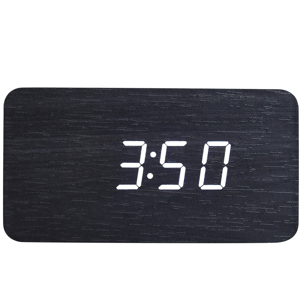 Rectangle Wood Digital Desk Clock - Mad Man by Mad Style Wholesale