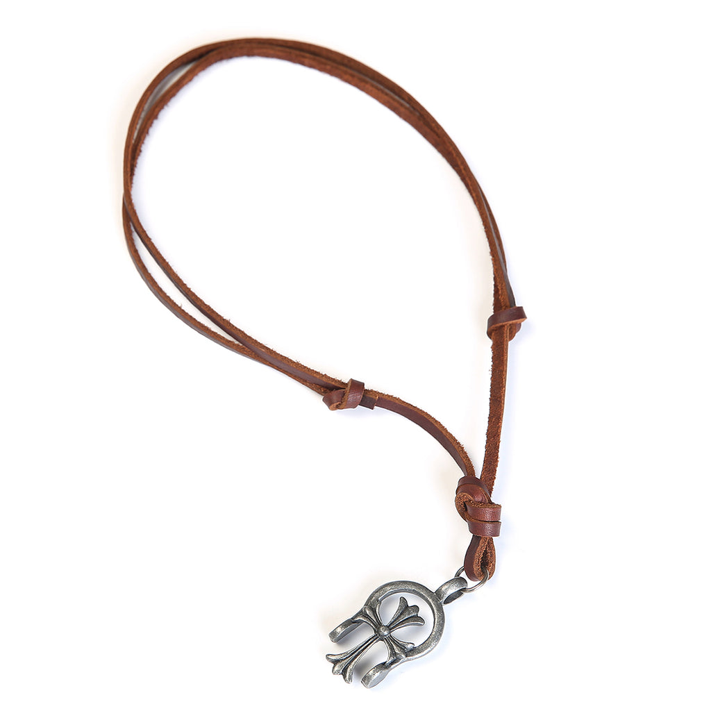 Leather Faith Stirrup Necklace