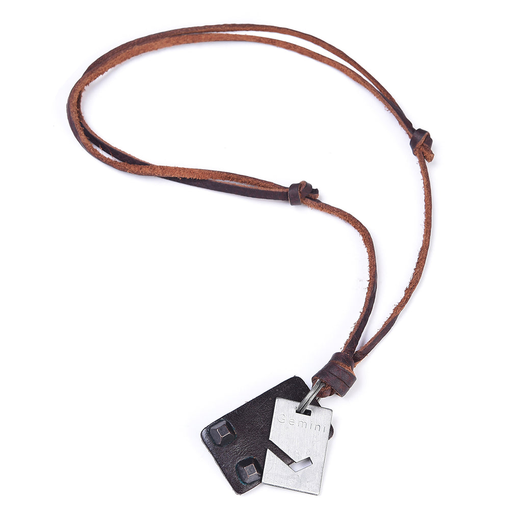 Leather Die Cut Necklace