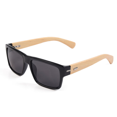 Bamboo Wayfarers Sunglasses with Bamboo Case