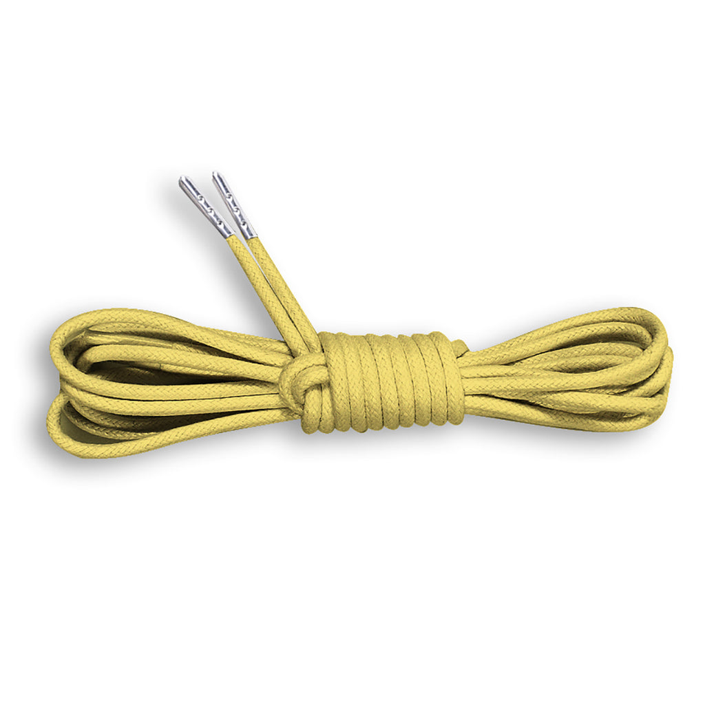 Metal Tipped Round Cotton Waxed Shoe Laces