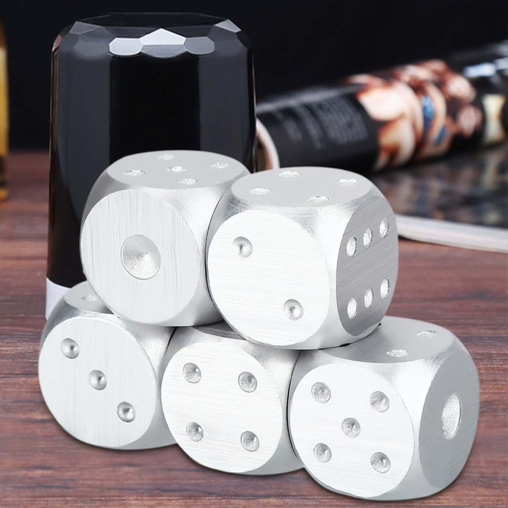 Men's Brushed Stainless Dice Set Mad Man by Mad Style Wholesale