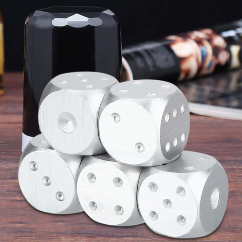 Men's Brushed Stainless Dice Set