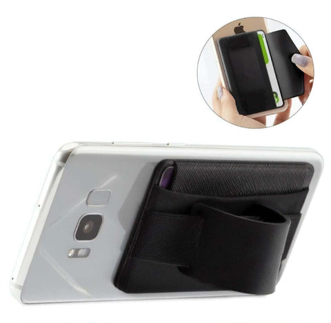 Men's Wide Band Phone Wallet Grip and Stand