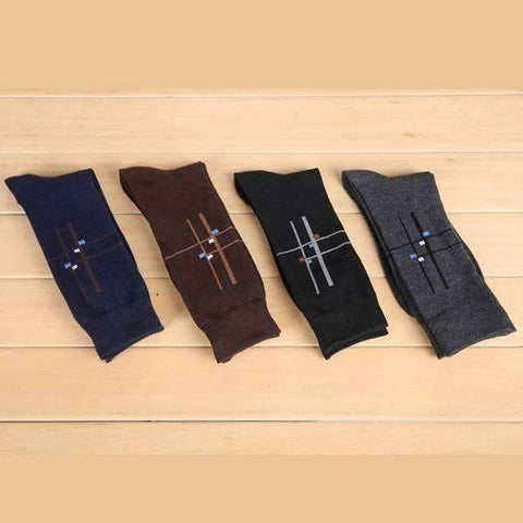 4 Pair Deco Intersect Socks