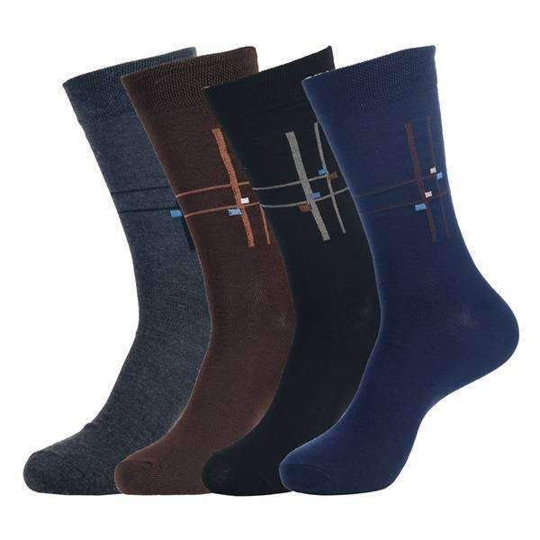 4 Pair Deco Intersect Socks,Socks that Rock,Mad Man, by Mad Style