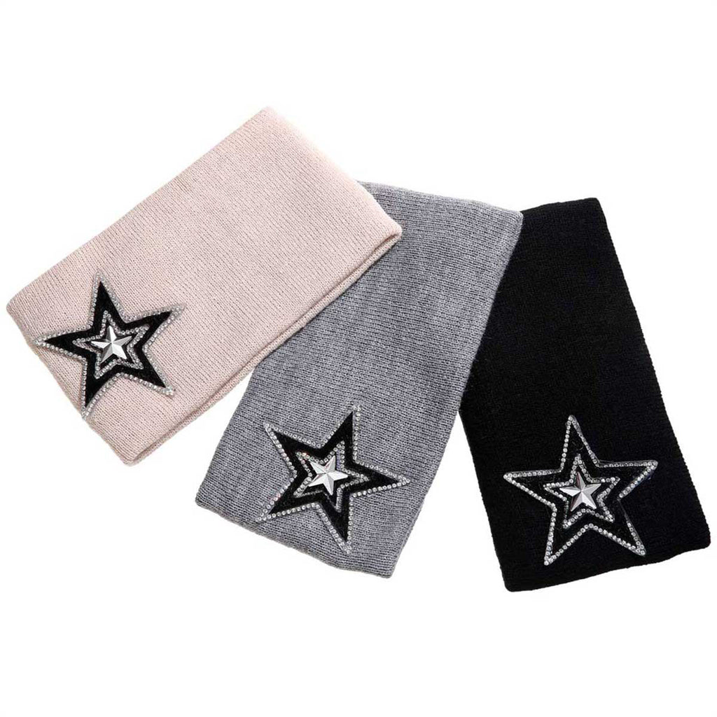 Varsity Star Wide Headband - Hats and Hair - Mad Style by Mad Style Wholesale