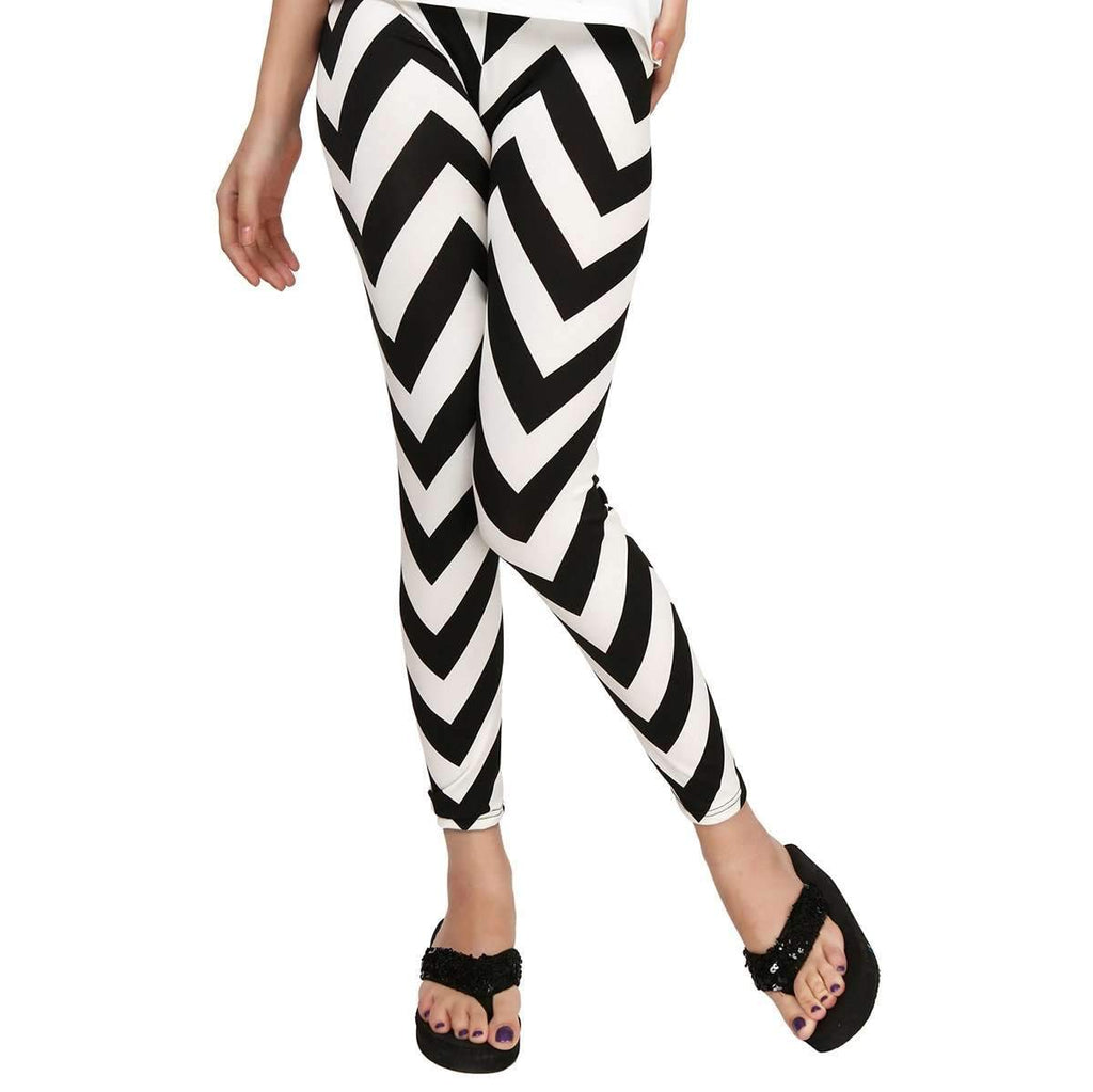 Black White Leggings,Bottoms,Mad Style, by Mad Style