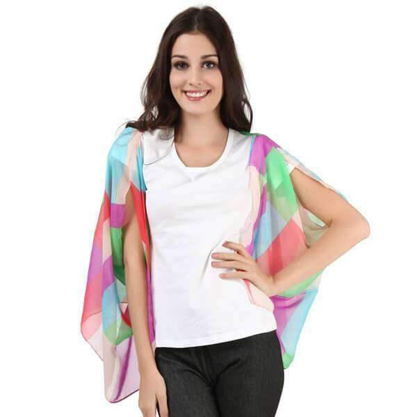 Chiffon Short Sleeve Wrap,Outerwear,Mad Style, by Mad Style